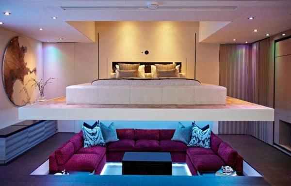 Le lit suspendu designs cr atifs et incroyables - Lit remontable au plafond ...