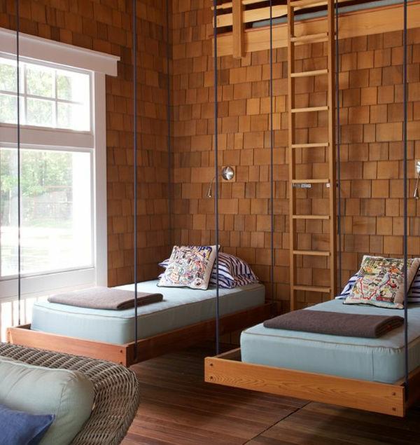 le lit suspendu designs cr atifs et incroyables. Black Bedroom Furniture Sets. Home Design Ideas