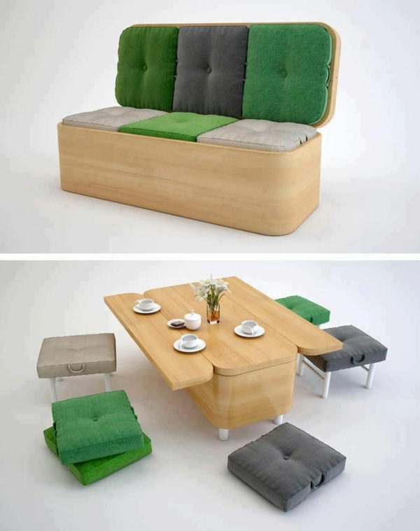 60 id es pour un am nagement petit espace. Black Bedroom Furniture Sets. Home Design Ideas