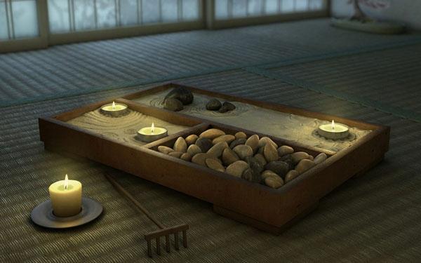 deco jardin zen miniature. Black Bedroom Furniture Sets. Home Design Ideas