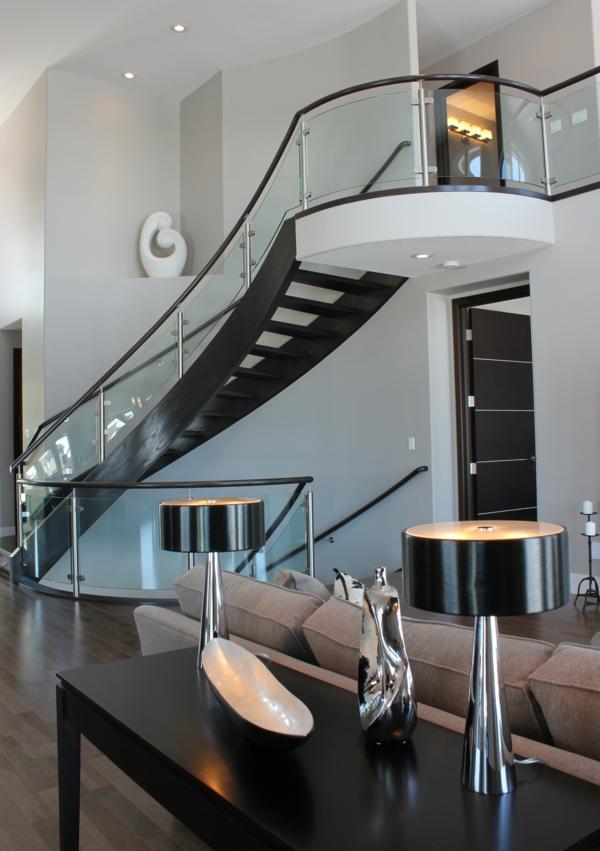 moderne-blanche-et-noir-appartement-idées-de-decoration