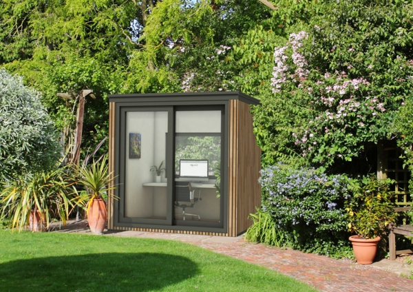 office modulaire de jardin designs curieux. Black Bedroom Furniture Sets. Home Design Ideas
