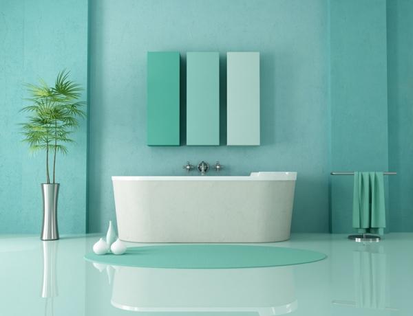 Emejing Salle Bain Verte Et Bleu Photos - House Design - marcomilone.com