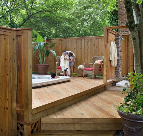 Choisissez un panneau occultant de jardin for Deco bois jardin