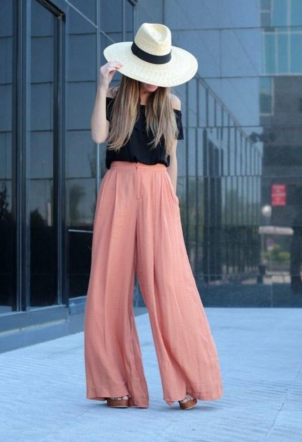 pantalon-fluide-couleur-corail
