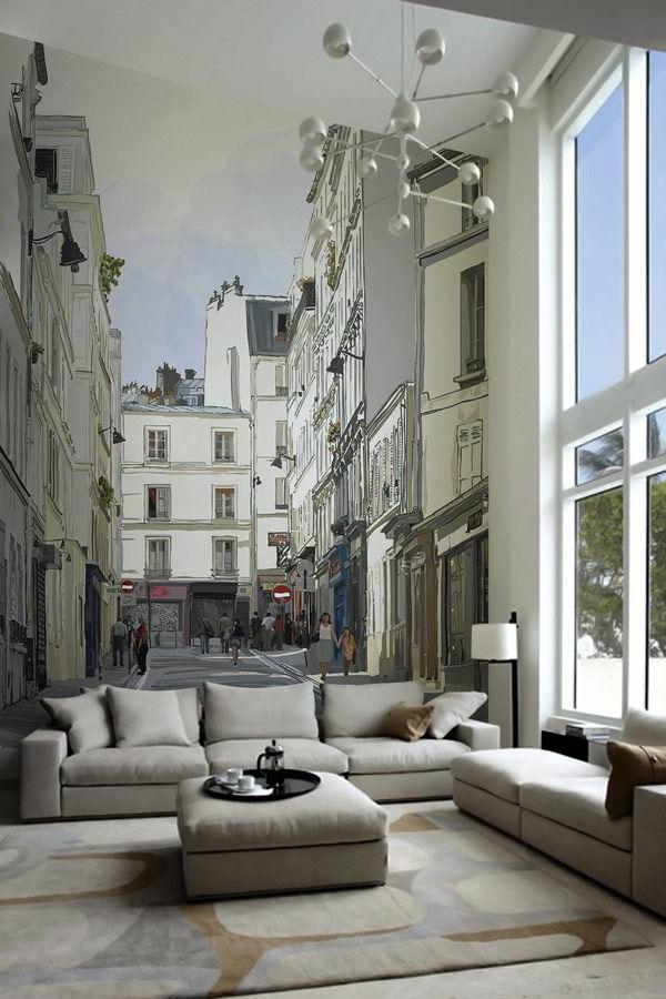 peinture-sur-le-mur-collage-ville-jolie-sticker-mural