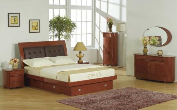pièce-à-se-coucher-moderne-blanc-et-brune-bois-couleurs-naturelles-plante