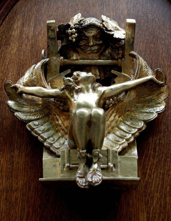 poignée-de-porte-d-éntree-avec-ange