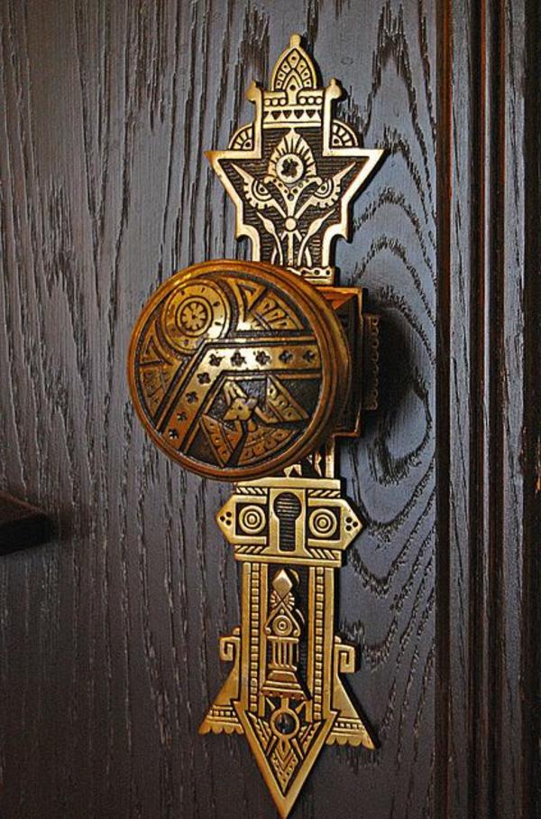 Poign e de porte d 39 entr e combiner bien avec l ext rieur - Stickers pour porte d entree ...