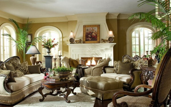 popular-design-ideas-for-home-decoration-living-room-with-natural-green-plant-on-vase-and-classic-brown-sofa-for-home-decorating-ideas-living-room-with-fireplace-ideas-for-home-decoration-living-room-resized