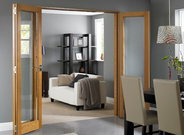 Cr ez un d cor unique avec la porte accord on for Porte de salon en bois et verre