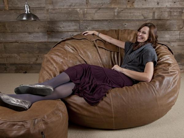Le pouf g ant un coussin de sol amusant et confortable - Canape en coussin de sol ...