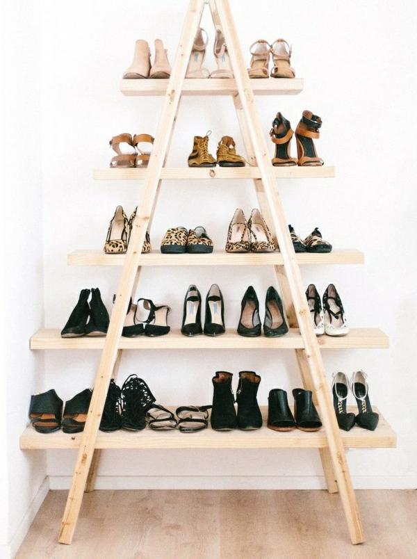 ranger-mes-chaussures-idées-créatives-échelle