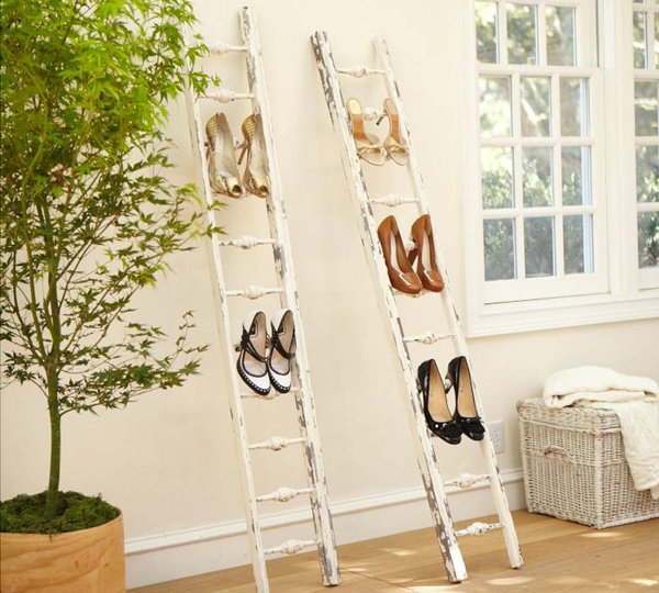 ranger-mes-chaussures-idées-créatives-deux-échelles-récyclées