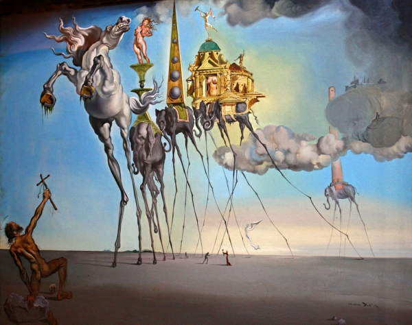 reproduction-La Tentation-de-Saint-Antoine-par-Salvador-Dali