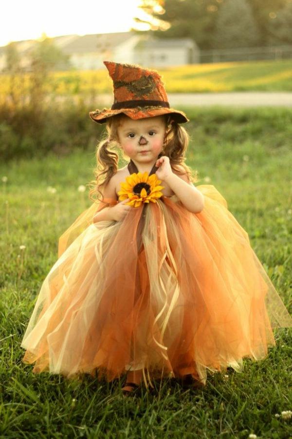 robe-colorée-pour-enfant-orange