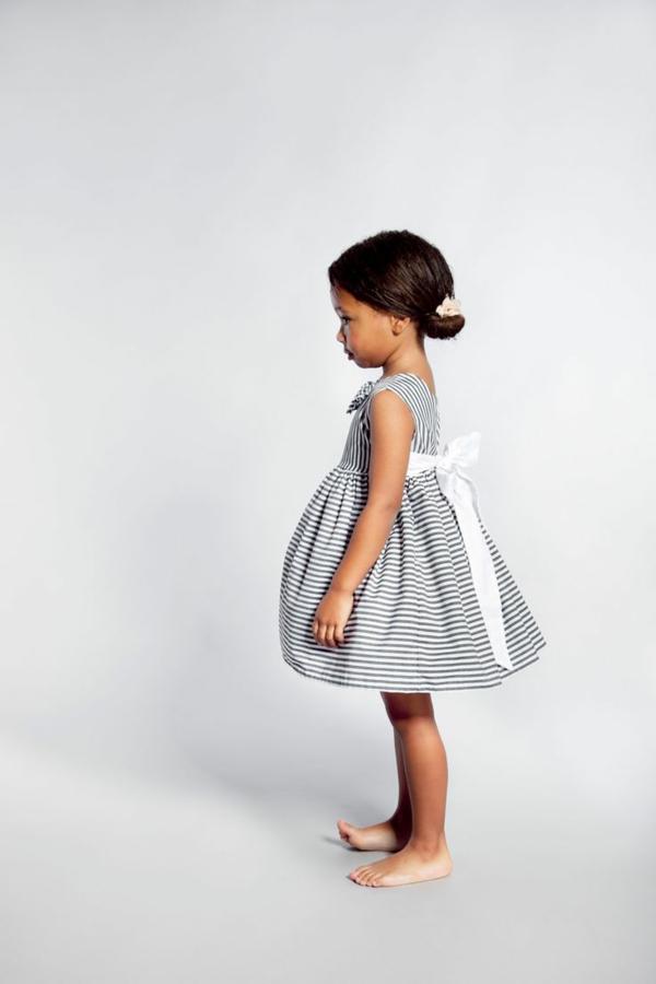 robe-de-soirée-pour-enfant-blanc-noir