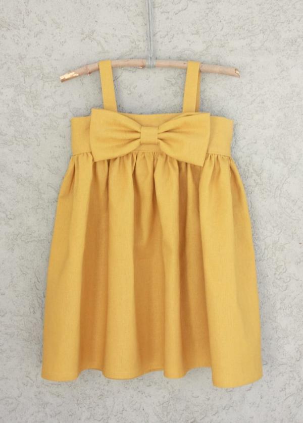 robe-de-soirée-pour-enfant-jaune-