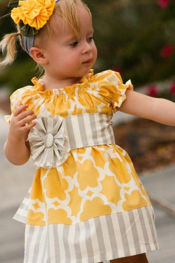 robe-de-soirée-pour-enfant-jaune