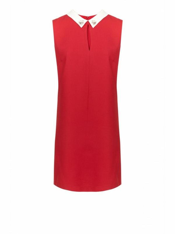 robe-de-soirée-rouge-ligne-droite