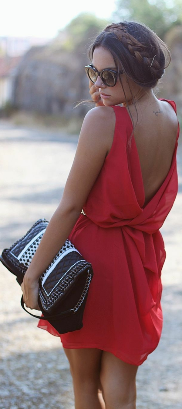 robe-de-soirée-rouge-style