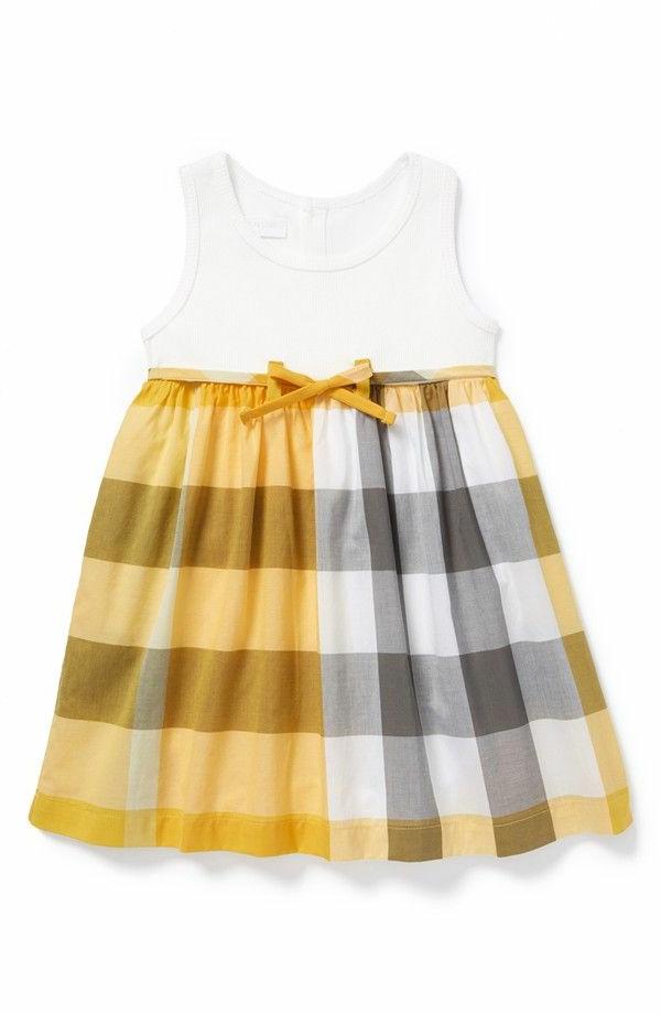 robe-pour-bébé-jaune-blanche