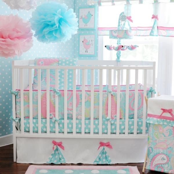 rose-et-bleu-salle-à-coucher-pour-le-bébé-gender