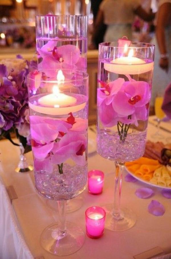 rose-fleurs-bougie-table