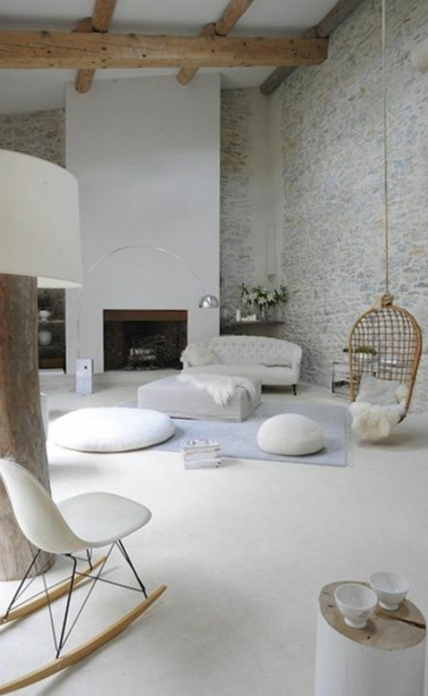 Comment Decorer Un Grand Mur Blanc  Maison Design  BahbeCom