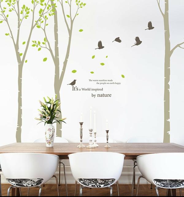 salle-à-manger-sticker-citation-arbres-oiseaux