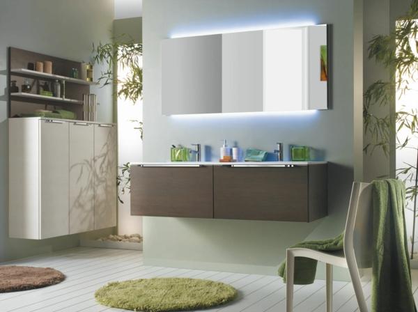 salle-bain-contemporaine-vert-tapis-vasque-baignoire