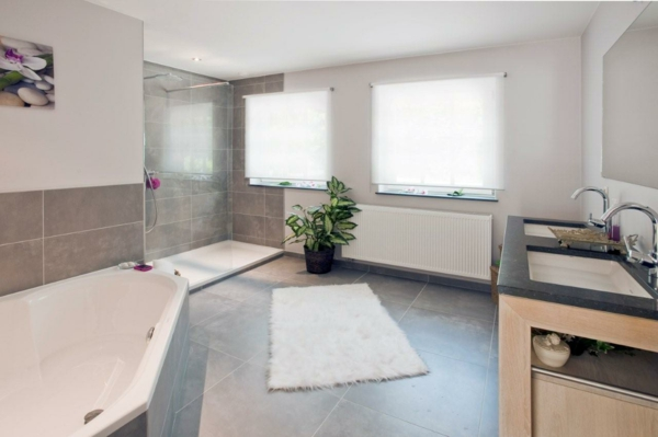 salle-de-bain-parentale-plante-deux vasques