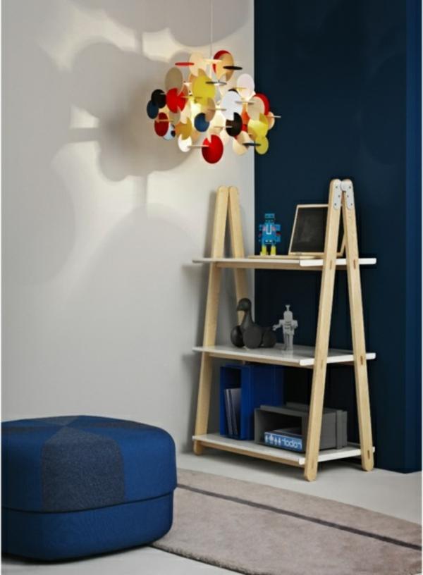 salon-bleu-bibliotheque-one-step-up-petite-aménagement