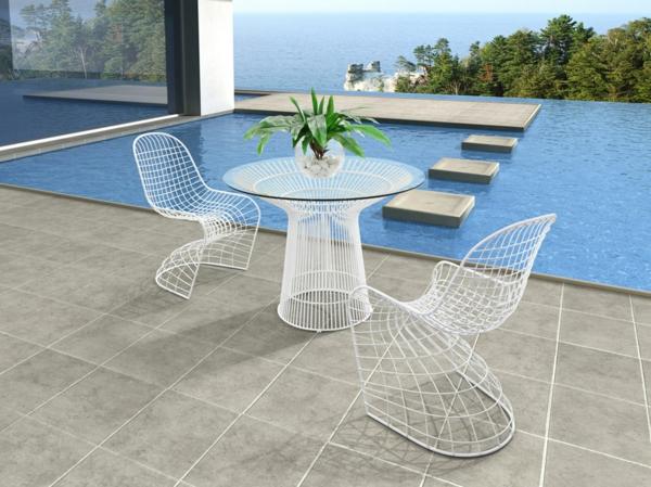 salon-de-jardin-en-aluminium-équipement-d'extérieur-blanc