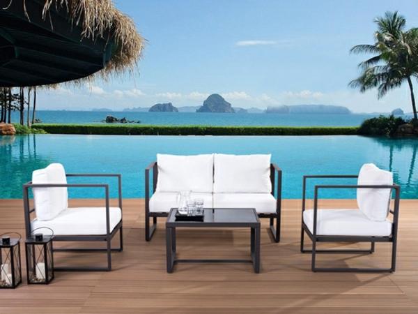Le salon de jardin en aluminium est une solution magnifique pour l 39 ext ri - Salon de jardin contemporain ...