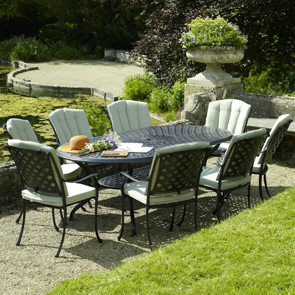stunning grande table de jardin alu contemporary design. Black Bedroom Furniture Sets. Home Design Ideas