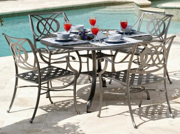 Table ronde pour salon de jardin - Maison mobilier et design