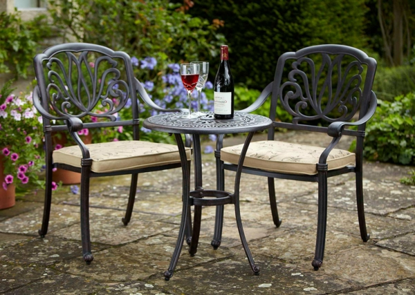 Table Ronde Terrasse. Latest Salon Jardin Table Ronde Fer With Table ...