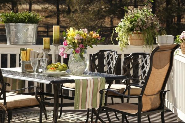 Salon de jardin en aluminium style bistrot des id es int ress - Salon de jardin style bistrot ...