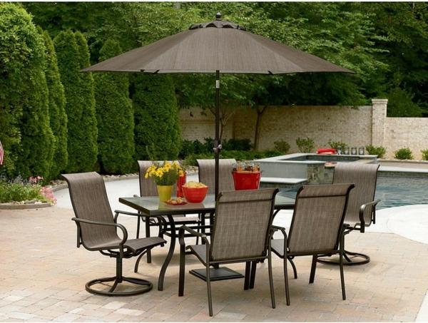 Beautiful Petite Table De Jardin Avec Parasol Contemporary - Amazing ...