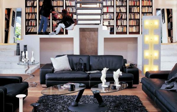 salon-roche-bobois-bibliothèque-originale