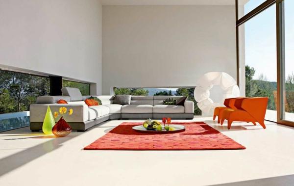 salon-roche-bobois-deux-fauteuils-rouges