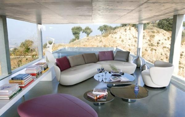 salon-roche-bobois-intérieurs-modernes-minimalistes