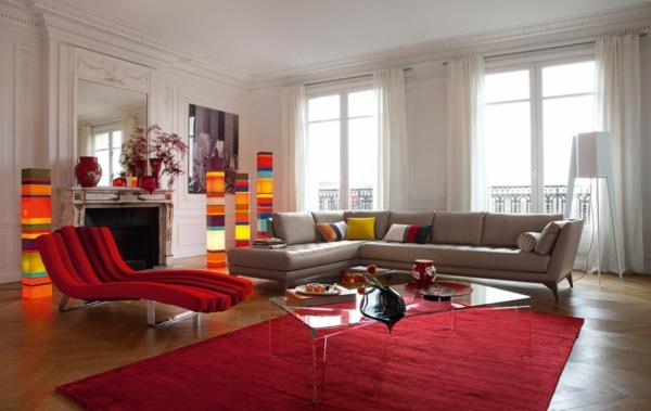 salon-roche-bobois-lampes-colorées-joyeuses