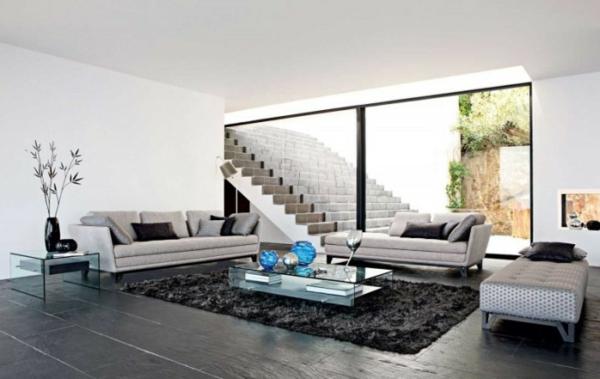 salon-roche-bobois-salle-de-séjour-dans-une-maison-contemporaine