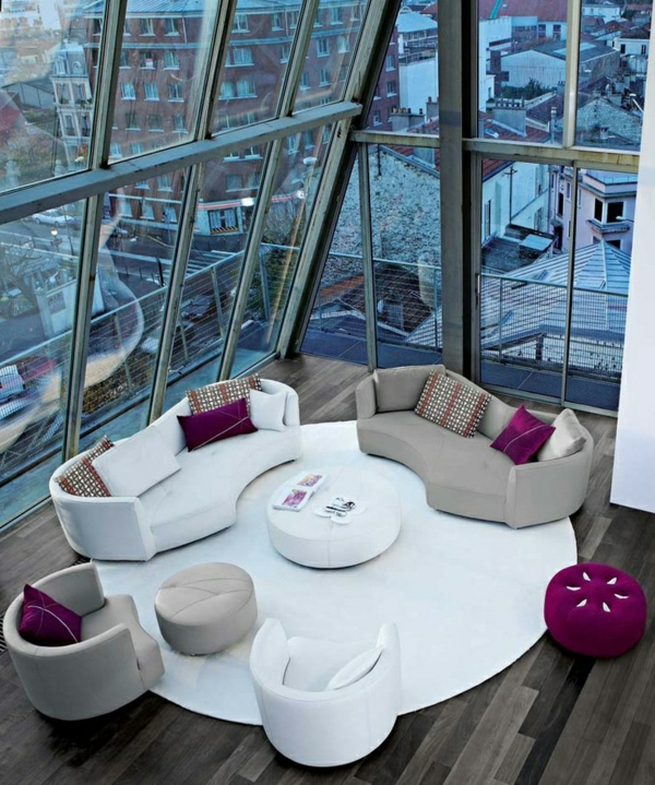 salon-roche-bobois-sofas-ondulants-contemporains