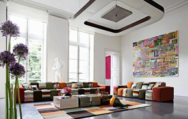 salon-roche-bobois-sofas-sectionnels