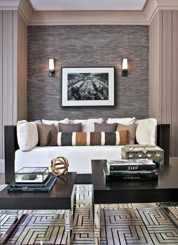 sofa-peinture-photo-salle-de-séjour-mur-en-pierres
