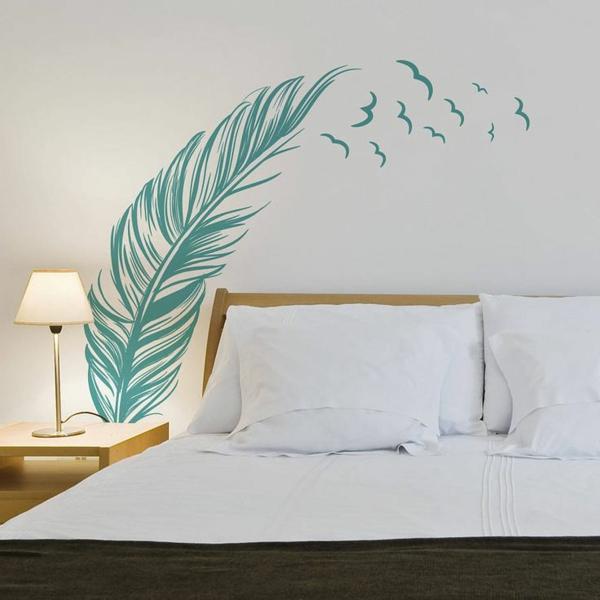 sticker-chambre-adulte-décoration-chambre-à-coucher-sticker-plume