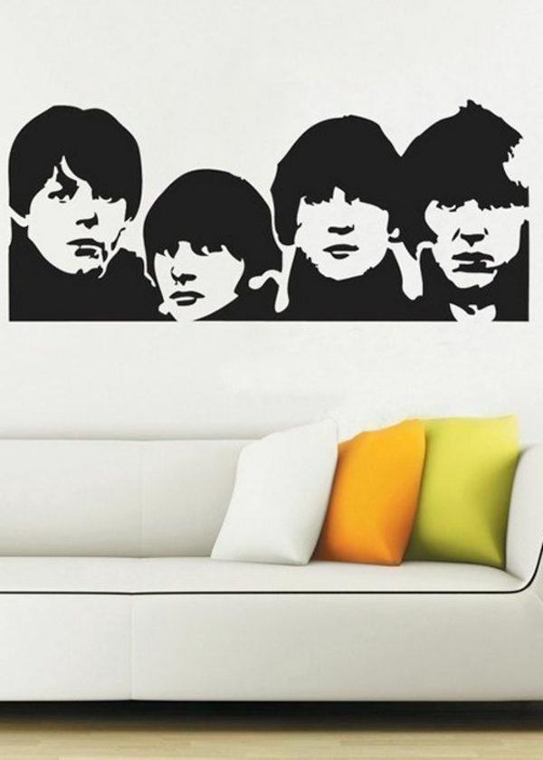 sticker-chambre-adulte-décoration-salon-amoureux-de-la-musique-the-beatles